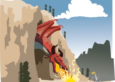 Dragons Lair Vector Illustration Ola Gustafsson Illustration