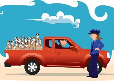 Meercat Truck Illustration Ola Gustafsson