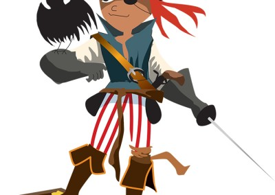 Pirate Vector Illustration Ola Gustafsson Illustration