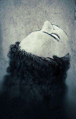 Hand drawn illustration of sleeping girl by Ola Gustafsson