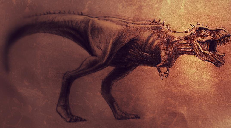 Hand drawn image of Tyrranusaurus Rex